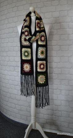 Lunghe e calde sciarpe che variopinte a maglia sciarpa nonna  b82e3897b4c6