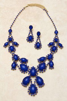 Ultramarine Teardrop Baubles Necklace Set | Awesome Selection of Chic Fashion Jewelry | Emma Stine Limited