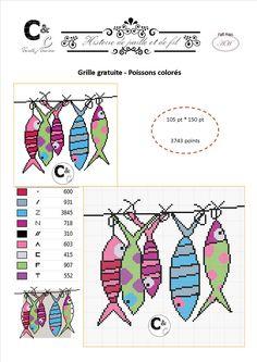 Grille gratuite - Poissons colorés