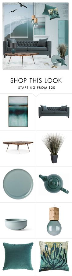 Ocean Dream by anna-anica on Polyvore featuring interior, interiors, interior design, home, home decor, interior decorating, Home Decorators Collection, Menu, Crate and Barrel and Koko
