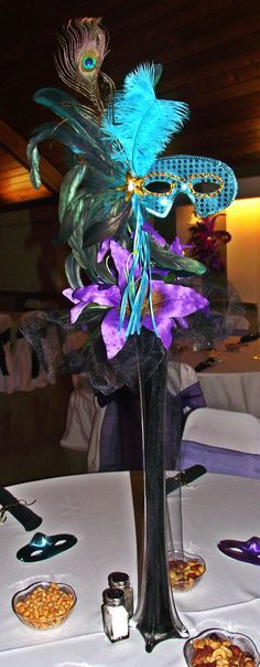 Masquerade Centerpiece! Perfect for my future wedding reception.
