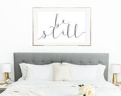 PRINTABLE WALL ART Be Still, Poster, 24x36, Home Decor, Wall Print, Housewarming Gift, Inspirational Quote, Nursery Decor, Bedroom Decor