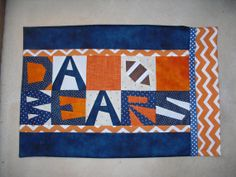 DA BEARS Pillowcase Pattern by madebymarney on Etsy, $9.00.  Make this pillowcase for your favorite Chicago Bear fan and they will dream of sweet victory.  Easy to read directions with lots of color photos.