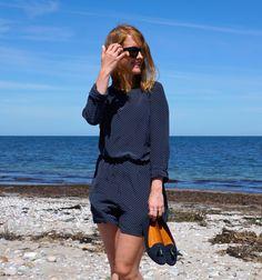 My summer uniform: Club Monaco jumpsuit, Madewell loafers and Céline sunglasses
