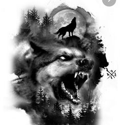 Native American Tattoos, Native Tattoos, Wolf Tattoos, Viking Tattoos, Animal Tattoos, Wolf Sleeve, Wolf Tattoo Sleeve, Geisha Tattoo Design, Wolf Tattoo Design