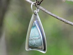 Blue Mountain Jasper Sterling Silver Pendant - http://www.gemstonejewelrybydanielle.com/products/blue-mountain-jasper-sterling-silver-pendant.html https://www.facebook.com/gemstonejewelrybydanielle https://www.etsy.com/shop/DanielleHRossJewelry