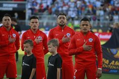 Chile NT during the national anthem.