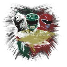 White,Green,Red Rangers