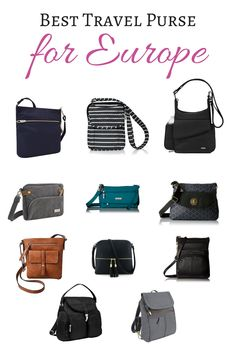 ac697a181e1d Best Travel Purse for Europe    This guide to the best travel purses for  Europe with help you decide on the right bag for your next trip.