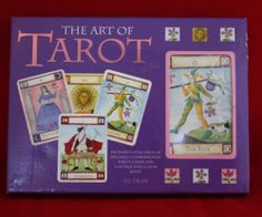 Art of Tarot Kit 78 Cards Full Color Book by Liz Dean Party Entertain Friends