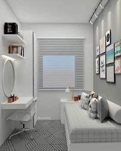 small bedroom ideas 2018 – kleine slaapkamerideeën 2018 – Share your vote! Single Bedroom, Small Room Bedroom, Small Rooms, Home Bedroom, Modern Bedroom, Girls Bedroom, Bedroom Decor, Bedroom Themes, Small Apartments