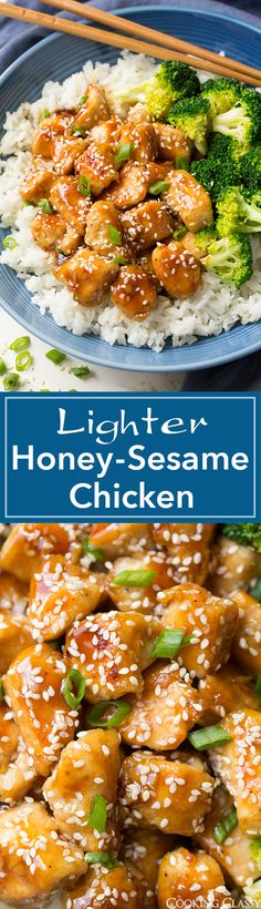 Lighter Honey-Sesame Chicken - you won't even miss the frying! Seriously delicious and full of flavor! (Sesame Chicken)
