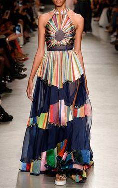 Chromatic Sheer Gown by Rahul Mishra