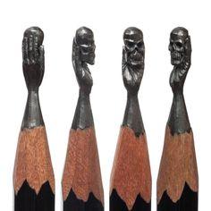 Delicadas esculturas esculpidas na ponta do lápis 02