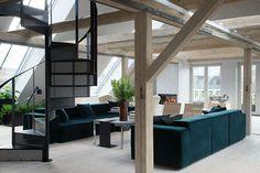 Danish Design Brand Vipp Reveals Plans for a Hotel Concept with a New 400 sqm Loft in Copenhagen - Nordic Design Loft Hotel, Casa Hotel, Loft Studio, Techno Style, Modern Loft Apartment, Copenhagen Hotel, Copenhagen Denmark, Light Hardwood Floors, Hotel Concept