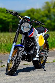 One of the many benefits of building your own bike is the freedom to choose and or alter what your not really happy with. Dominator Scrambler, Scrambler Motorcycle, Bobber, Triumph Scrambler, Custom Cycles, Custom Bikes, Build Your Own Bike, Enduro Vintage, Soichiro Honda