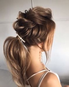 90 easy hairstyles for naturally curly hair - Hairstyles Trends Medium Hair Styles, Curly Hair Styles, Ponytail Hairstyles, Hairstyle Ideas, Perfect Hairstyle, Prom Hairstyles, Hairstyles For Long Hair Wedding, Engagement Hairstyles, Hairstyle Wedding
