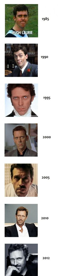 Aging Level: Hugh Laurie he has the kind of face that looks better with scruffy scruff. Gregory House, Mejores Series Tv, Funny Love Pictures, Goofy Pictures, House Md, Hugh Laurie, Raining Men, Cinema, Looks Cool