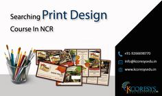 In the recent times, there is a great demand for print design course in Noida as there are several career opportunities available for professionals in print designing industry. These courses are designed in such a way that they enhance your creative skills effectively.