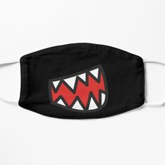 Menoora Shop   Redbubble #facemask #mask #monster #halloween Monster Face, Black Mask, Mouth Mask, Mask Design, Boss Lady, Spandex Fabric, Snug Fit, Girly, Face Masks