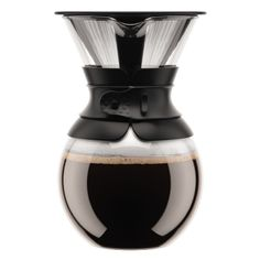 POUR OVER | Coffee maker with permanent filter, 1.0 l, 34 oz Black | Bodum Online Shop | United States