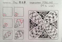 Minline | Tangle pattern | 禪繞畫 Mei Hua Teng aka Damy | Its a String Thing #112