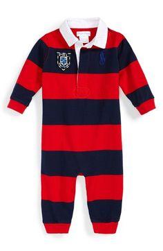 Ralph Lauren Rugby Polo Romper (Baby Boys)