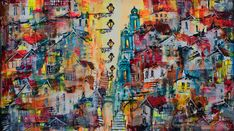 Lisbon, Original Art, Paintings, Lights, Canvas, Artist, Tela, Paint, Painting Art