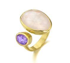 anillo amatista cuarzo