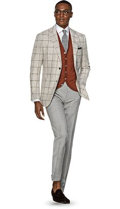 Jacket Light Brown Check Havana C1120 | Suitsupply Online Store