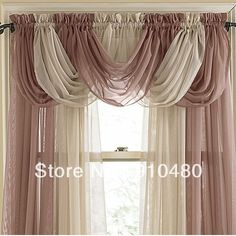 Beautiful Sheer Curtain Valance Waterfall Swag W 60 Cm H 50 Free Shipping In Curtains From Home Garden On Aliexpress