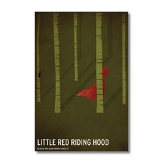 Red Riding Hood by Christian Jackson Canvas Print, Green