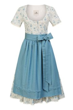 JAN&INA Trachten Baumwoll Traditions Dirndl in hellblau.  Leichtes Baumwoll Dirndl mit kurzem Arm mit traditionellen Rundhals Ausschnitt und Knopfleiste. Short Sleeve Dresses, Dresses With Sleeves, Elegant, Tulle, Skirts, Roses, Shopping, Fashion, Stripe Pattern