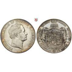 Brandenburg-Preussen, Königreich Preussen, Friedrich Wilhelm IV., Vereinsdoppeltaler 1842, ss-vz: Friedrich Wilhelm IV.… #coins #numismatics