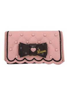 SWIMMER brand pink quilted wallet