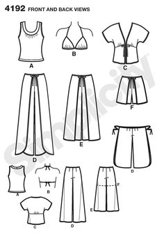 Pattern for Misses Sportswear | Simplicity 4192 wrap pants