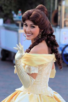 Princess Belle from Disney's Beauty and the Beast at Walt Disney World, photographed by Alyssa King Style Disney, Disney Dream, Disney Love, Disney World Characters, Walt Disney World, Disney Parks, Disney Bound, Belle Cosplay, Disney Cosplay