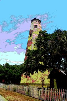 Old Baldy 28 by Cathy Lindsey Bald Head Island, Lighthouses, Beverly Hills, All Things, United States, Design Inspiration, Wall Art, Digital, Artist