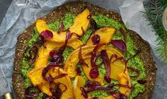 Chestnut and greens seeded galette