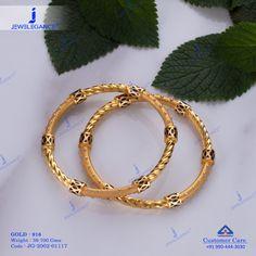 Plain Gold Bangles jewellery for Women by jewelegance. ✔ Certified Hallmark Premium Gold Jewellery At Best Price Plain Gold Bangles, Gold Bangles For Women, Gold Bangles Design, Antique Jewellery Designs, Fancy Jewellery, Bead Jewellery, Gold Jewelry, Wedding Jewelry, Bridal Bangles