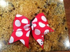 3 inch polka dot bow by SavvysCheerBowtique on Etsy Only $8!