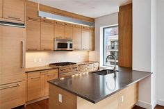 NYC real estate #wood #kitchen #modern