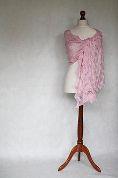 READY to SHIP Wedding shawl silk scarf knit by KnitwearFactory
