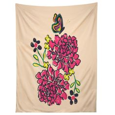 Vy La Budding Love Tapestry   DENY Designs Home Accessories