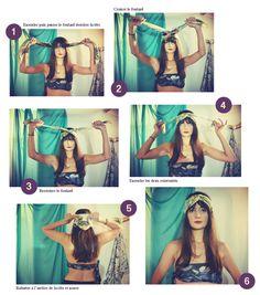 Comment nouer un turban / foulard autour de la tête par Camille Yvert pour Antagoniste