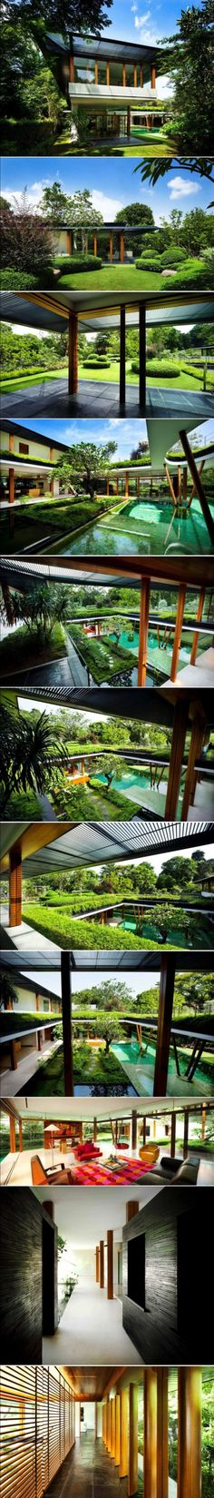 Water Lily House by Guz Architects / Water Lily House is a private residence located in Singapore.  The spacious home was designed by Guz Architects.