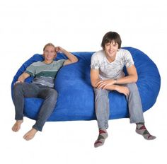 SLACKER sack foam bean bags are the most comfortable, fun and versatile pieces of furniture you can find. Perfect for a Family Room, Theater Room, Dorm Room, or Den. Fits 3 People comfortably. Our generous amounts of high quality shredded (not chunk) foam and durable Microfiber covers ensure the highest quality product. We use a very strong zipper for extra strength and all the seams are double stitched...