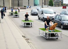 Parkcycle Swarm: mobile parks that travel with... | ideas for cities
