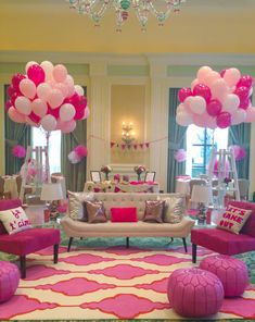 - Every Regina George& dream :) haha. Too much pink in my opinion Mean Girls Party, Pink Parties, Slumber Parties, Birthday Parties, Regina George, Hello Kitty, Haha, Bday Girl, Party Decoration