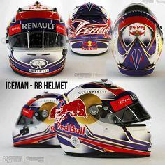 Raikkonen's red bull helmet. Alas, it wont happen